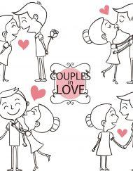 Rizin papir sa ljubavnim motivom